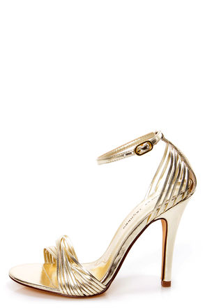 Chinese Laundry Legendary Light Gold Strappy Dress Sandals - $59.00