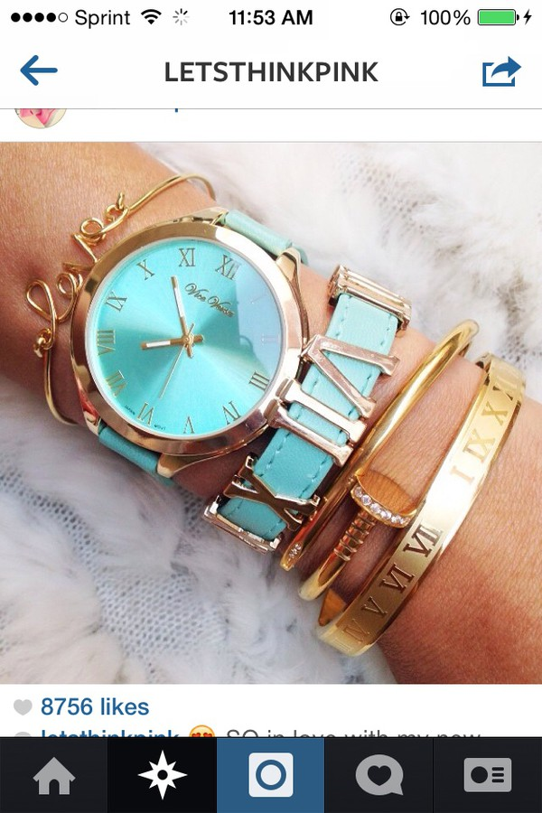 jewels mint gold watch bracelets