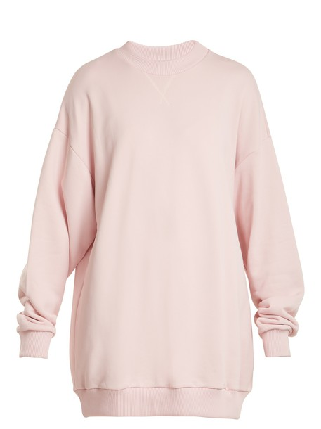 MARQUES ALMEIDA sweatshirt oversized cotton light pink light pink sweater