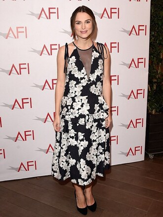 keira knightley floral dress midi dress