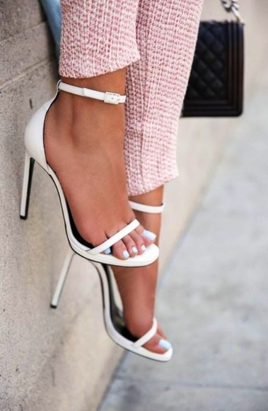 shoes white high heels summer shoes