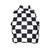 Aissha Black and White Checker Print Crop Top - FOURTEEN OH SEVEN
