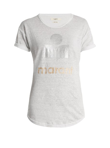 Isabel Marant etoile t-shirt shirt t-shirt print white top