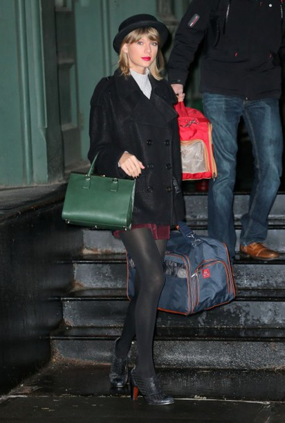 hat coat shoes taylor swift