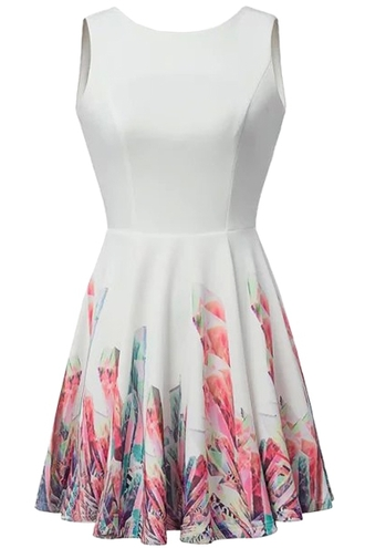 dress zaful white dress floral white dress floral floral pattern sleeveless sleeveless dress sleeveless white dress summer summer outfits casual casual dress floral printed dress backless backless dress backless sleeveless dress backless mini dress mini dress casual white dress