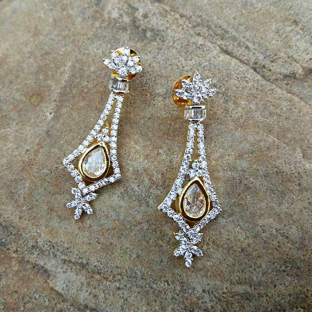 jewels white american diamond earring buy american diamond earring online earrings