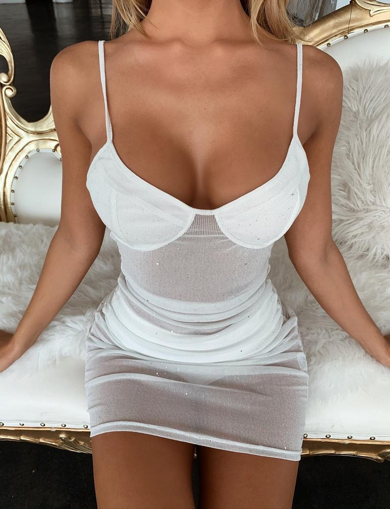 Loveday Dress - White - S WHITE