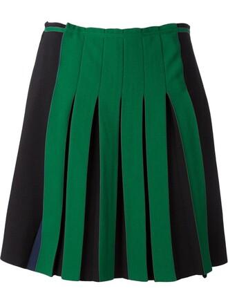 skirt pleated green