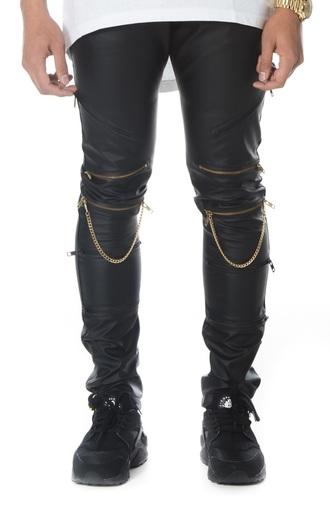 pants leather pants leather zipper