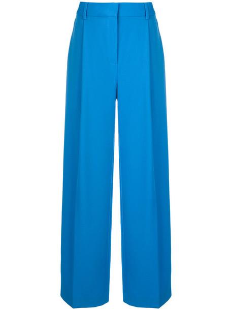 Victoria Victoria Beckham women cotton blue wool pants