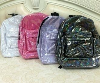 bag transparent shiny backpack