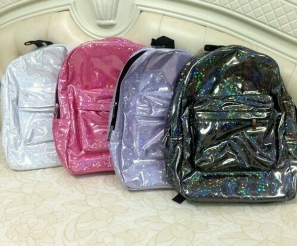 bag transparent shiny backpack