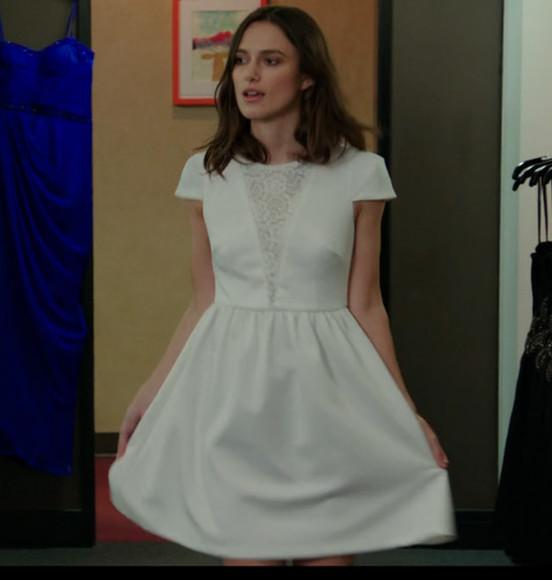 party dress homecoming dress short dress white dress short sleeve