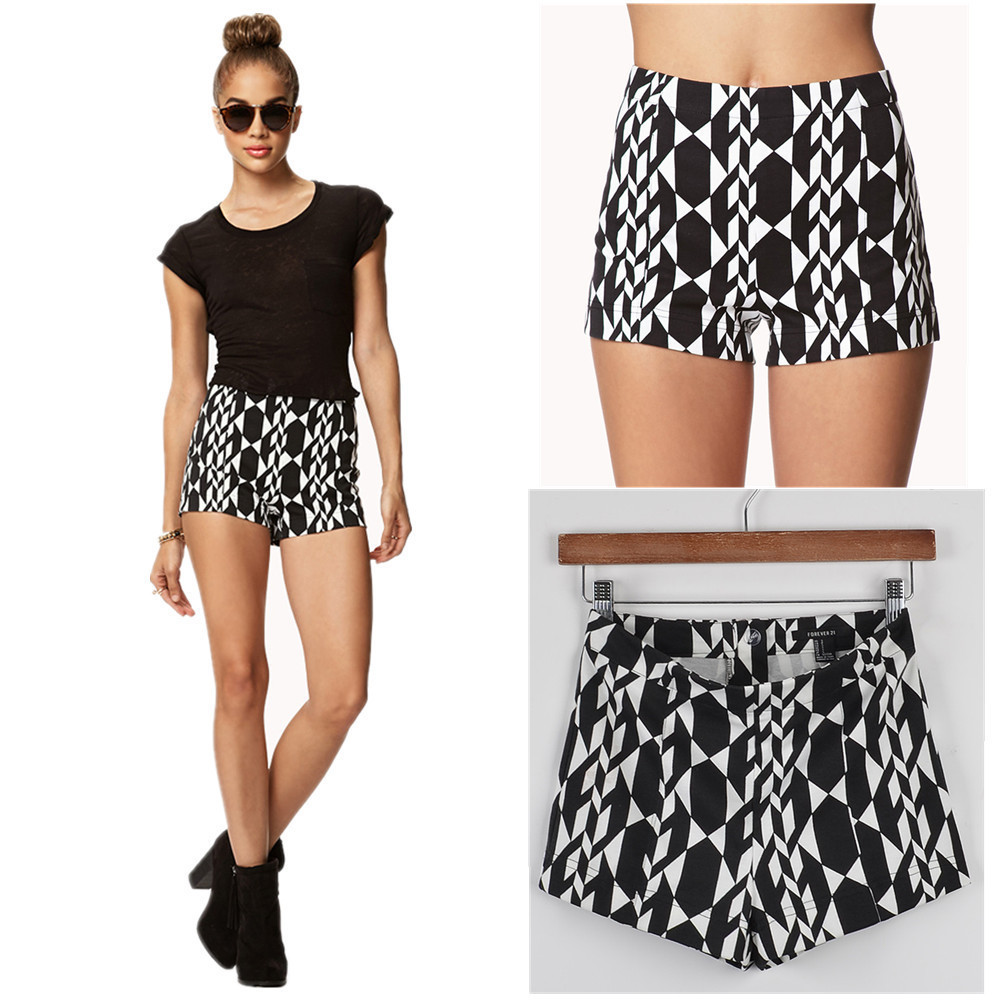 Aztec geometric print shorts from lucky seven shop on storenvy