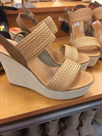 shoes steve madden summer wedges wedges tan wooden wedges