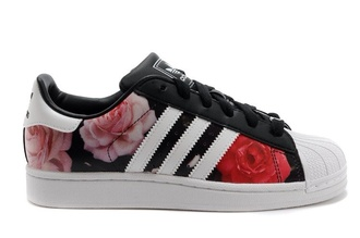 shoes black with rose nike floral sneakers adidas adidas superstars