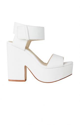 Lipstik Shoes - Jase Wedge - White