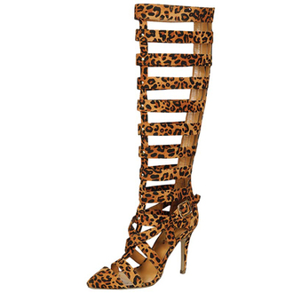 shoes high heels knee high gladiator sandals