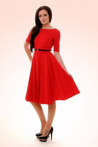 audrey hepburn dress 50s style red dress evening dress prom dress women fashion 50s dresses pin up pin up dresses