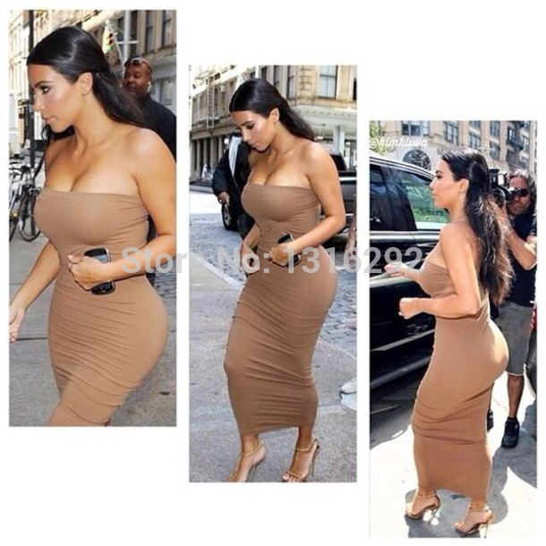 Wholesale Product Snapshot Product name is sexy strapless Women Long Maxi Bodycon Bandage Dresses kim kardashian celebrity dresses 2014 Summer Autumn Vestidos Casual