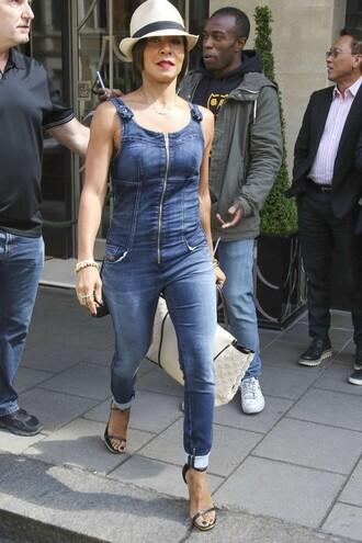 jeans jumpsuit overalls denim jada pinket