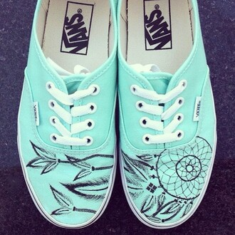 vans of the wall vans mint green shoes dreamcatcher shoes