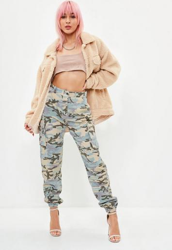 Missguided - Petite Premium Camo Printed Cargo Pants