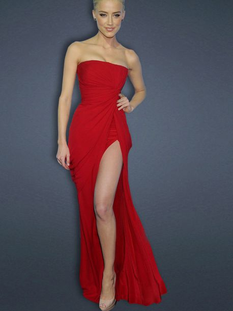 Red Dress With Slits