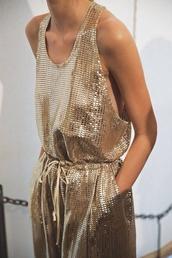romper,gold,dress,jumpsuit