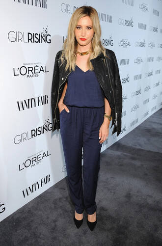 jumpsuit ashley tisdale jacket pumps