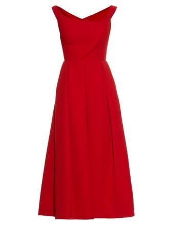 dress midi dress midi satin red