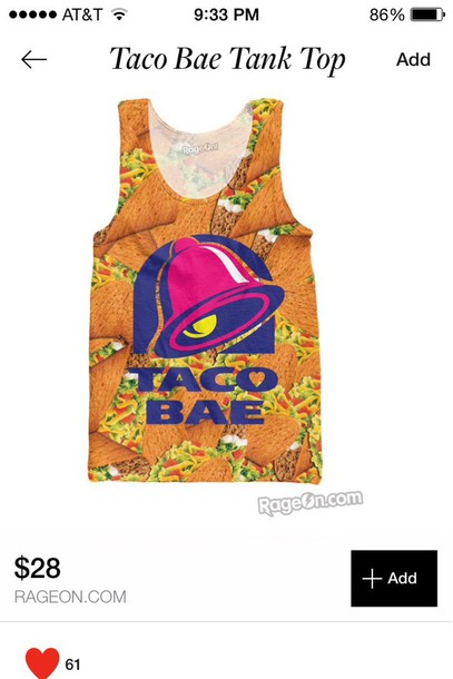 tank top taco bell taco bae