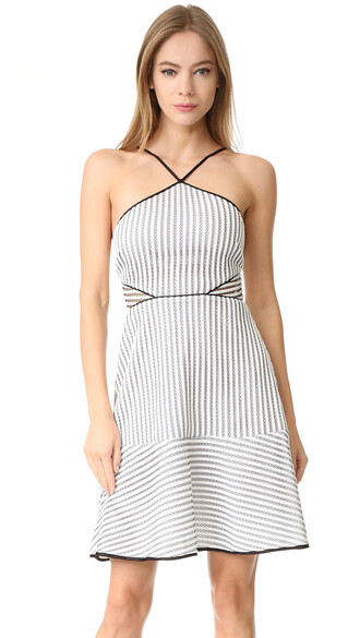 dress white black