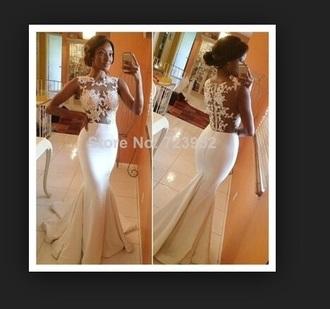 dress white dress lace wedding dress wedding dress beautiful ball gowns mermaid/trumpet wedding dresses gorgeous dress gorgeous