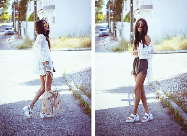 mexiquer sunglasses top bag shoes shorts
