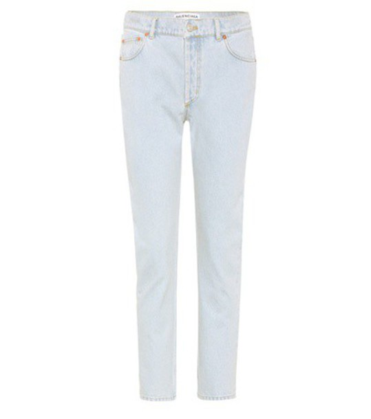 Balenciaga jeans cropped jeans cropped blue