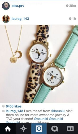 jewels watch cats leopard print