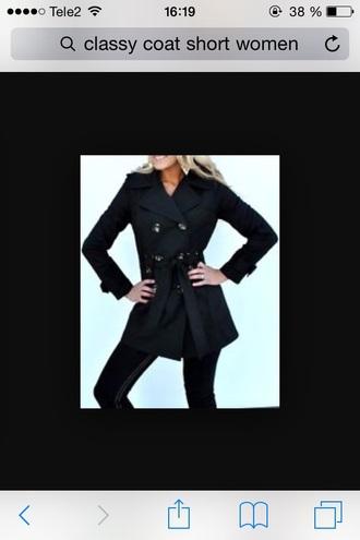 coat trench coat black coat black trench coat jacket classy coat