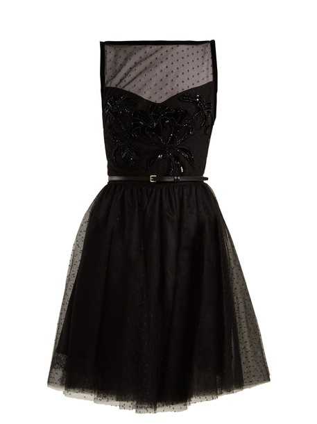 Elie Saab dress tulle dress embellished black