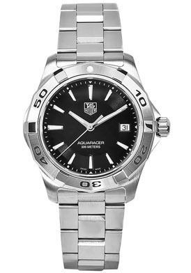 Tag Heuer WAP1110.BA0831  Watches,Men's Aquaracer Black Dial Stainless Steel Bracelet, Men's Tag Heuer Automatic Watches