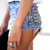 Dangers Black Half Studded Shorts | RUNWAYDREAMZ