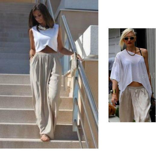 BNWT Zara Silky Sarong Flowing Pants Trousers Beige Sz M 14 16 | eBay