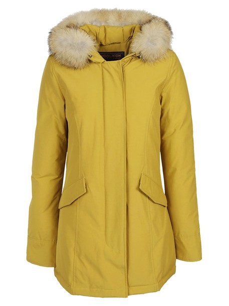 Woolrich parka classic yellow satin coat