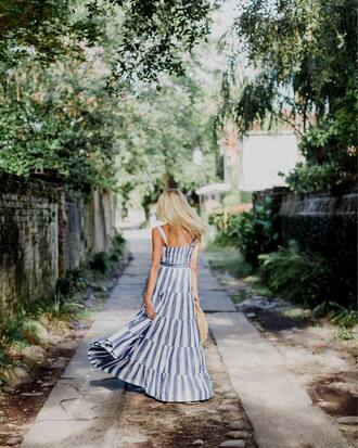 dress tumblr blue dress maxi dress long dress stripes striped dress summer dress