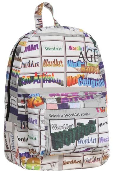 grey bag wordart colourful text