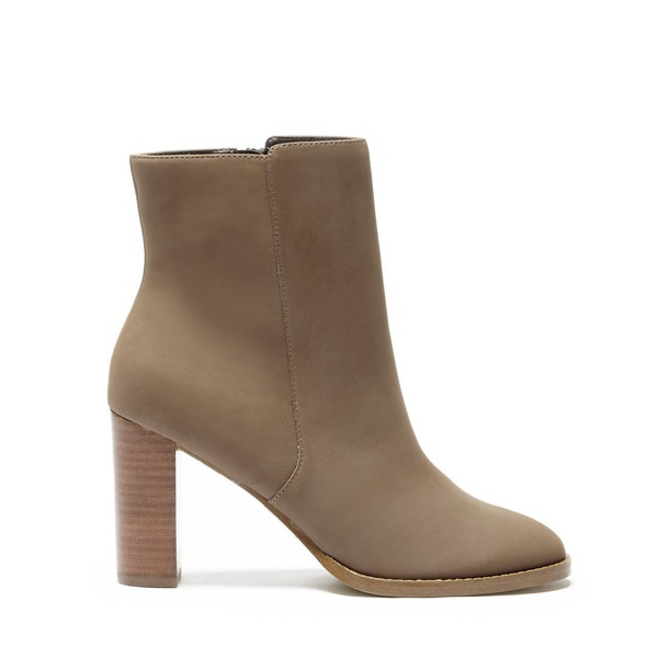 Sole Society Micah Stack Heel Bootie - Taupe-5