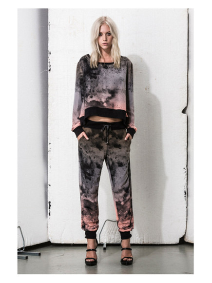 religion summer sweater trousers pants ombre dip dyed dip dye summer outfits cool girl style trendy