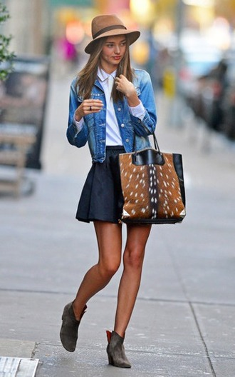 bag miranda kerr trendy streetstyle girl sassy model tumblr fall outfits amazing fur faux fur black brown