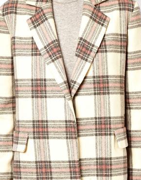 ASOS | ASOS Longline Colored Check Coat at ASOS