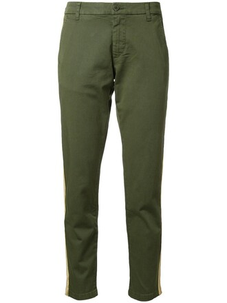 women cotton green pants